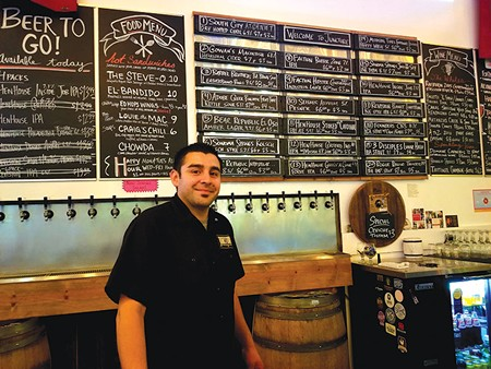 FROM PALLETS TO PALATE  Peter Lopez started his career in a winery warehouse - before discovering his passion for craft beer.
