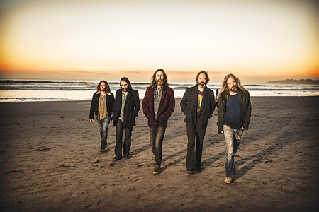 MUSIC WITH A VIEW Chris Robinson (center) says the North Bay's 