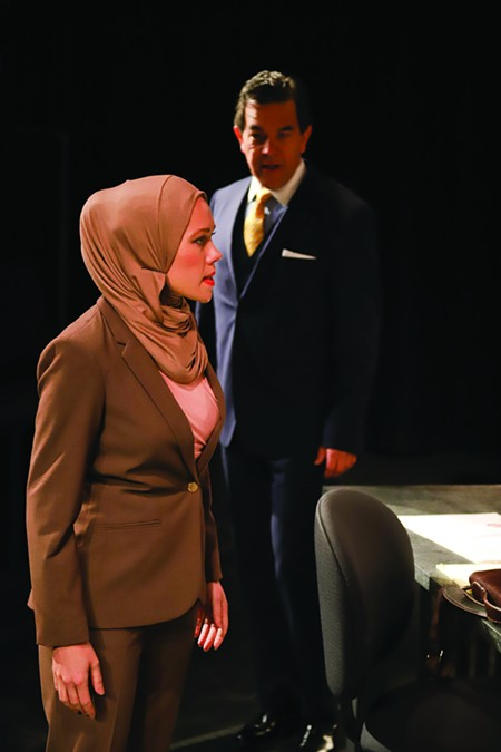 Face the Truth Timely courtroom drama 'Faceless' plays out at 6th St Playhouse's Studio Theatre. - ERIC CHAZANKIN