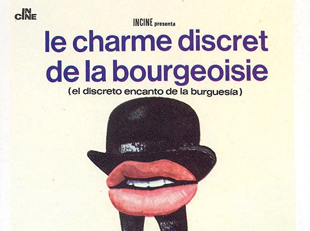 CHARMED The film poster for Luis Buñuel's dinner-party satire. - COURTESY INCINE