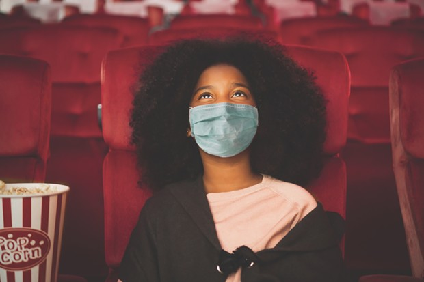 SOCIAL-DISTANCE CINEMA When movie theaters do reopen later this summer, face coverings will be mandatory, even in the auditorium.