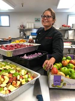 Chef Brenda Anderson at Herzog Hall. - PHOTO COURTESY OF MIRIAM DONALDSON