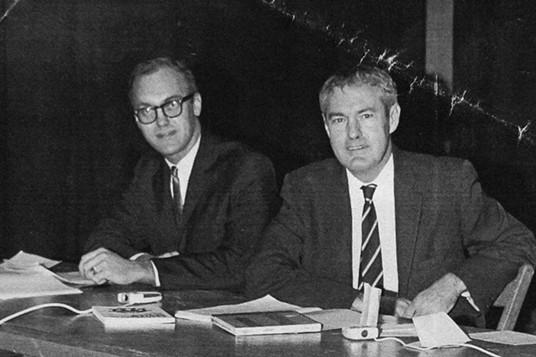Richard Alpert and Timothy Leary