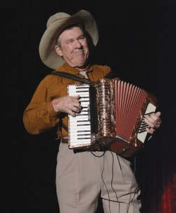 YODELAYHEEHOO Cowboy legend Sourdough Slim brings his accordion and yodeling to Cotati this weekend. - MICHELLE BATES