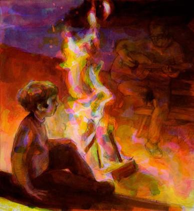 """""""Campfire"""" by Kristen Throop"""