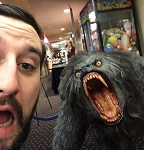 An American Werewolf selfie in Santa Rosa.