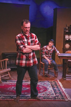 A MATCH Anthony (Jereme Anglin) and Rosemary (Sharia Pierce) stumble toward love in 'Outside Mullingar.' - ERIC CHAZANKIN