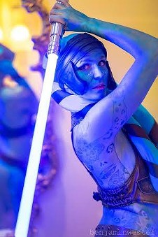 Aayla Secura Lightsaber Burlesque by San Francisco's Luma Jaguar
