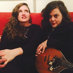 BACK IN ACTION Jolie Holland (left) and Samantha Parton tour again after 16 years apart.