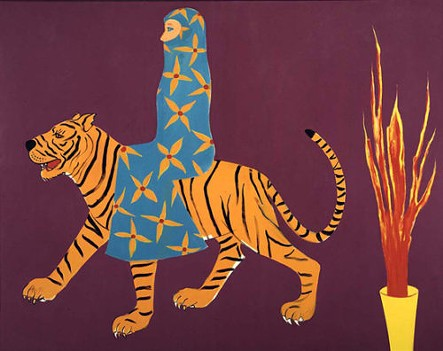 Joan Brown, The Long Journey, 1981. Enamel on canvas, 78 x 96 in. di Rosa Collection, Napa.