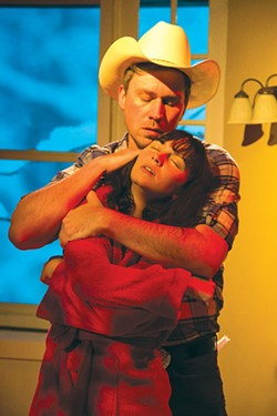 RAWHIDE Mae (Paige Picard)  conjures sex fantasies with a cowboy (Chris Ginesi) in 'You Got Older.' - A.J. REILLY