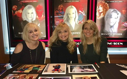 From left to right: Barbara Crampton, Kelli Maroney and Suzanne Snyder are the heroines of horror.