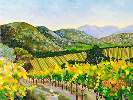 """Mayacamas Hills and Vineyard"" by Dan Scannell"