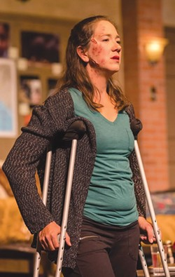 STILL STANDING Maureen O'Neill plays a wounded journalist in 'Time Stands Still.' - RAY MABRY