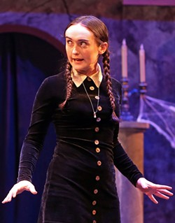 CREEPY AND KOOKY Emma LeFever stars as Wednesday Addams in Spreckels' musical take on 'The Addams Family.' - JEFF THOMAS