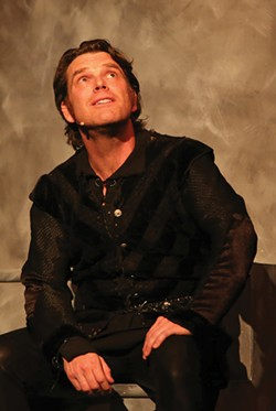 SWEET PRINCE Keith Baker marvels as a brooding 'Hamlet.' - JEFF THOMAS