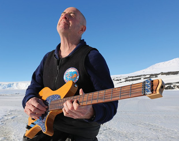 ICE PICKS AND GUITAR LICKS When he's not exploring the Antarctic, Henry Kaiser plays guitar; and sometimes, he does both simultaneously. - PHOTO COURTESY HENRY KAISER