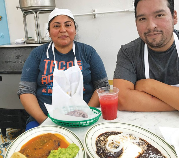 Many Hands Much of the food at El Molino Central is drawn from family recipes of cooks like Zoraida Juarez, left, and Jose Andrade who hail from different regions of Mexico.