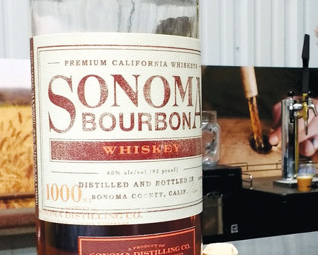 A New Look Sonoma Distilling's bourbon is made with malted barley that's smoked onsite with California cherry wood.