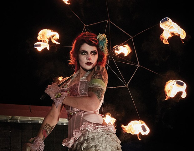 Hot to Trot  Performers at the North Bay Cabaret include fire dancers, belly dancers and goth comedian Oliver Graves.