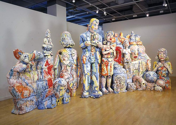 Gathered Together 'The Decline and Fall of Western Civilization,' part of the exhibit 'Viola Frey: Center Stage,' is on display in Gallery 2 at di Rosa Center for Contemporary Art. - PHOTO COURTESY DI ROSA CENTER FOR CONTEMPORARY ART