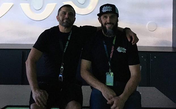 Doobie Bros. Brandon Levine and Damon Crain. - JONAH RASKIN