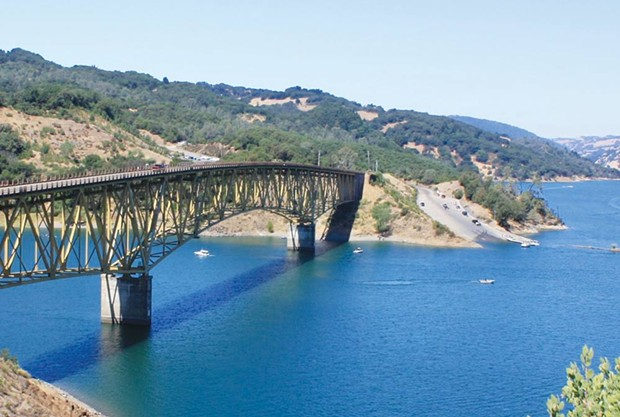CAMP-OUT CULTURE Inspired by her own adventures, Susan Swartz's novel features scenes from Lake Sonoma. - VIA WIKIPEDIA