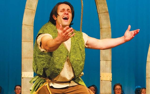 ASL ONSTAGE Deaf actor Chris DeSouza stars as Quasimodo in 'Hunchback.' - JENNIFER GRIEGO