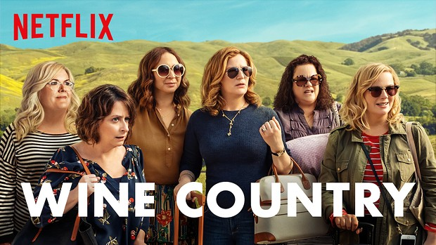 "Locally-filmed comedy ""Wine Country"" is streaming on Netflix."