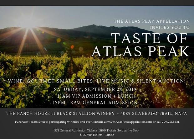 Taste of Atlas Peak | The Ranch House at Black Stallion