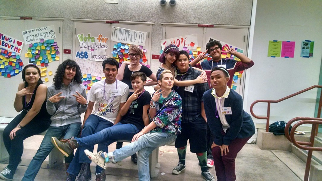 One of LGBTQ Connection's youth leadership teams participates in a recent Gay-Straight Alliance (GSA) Conference. - VIA LGBTQ CONNECTION