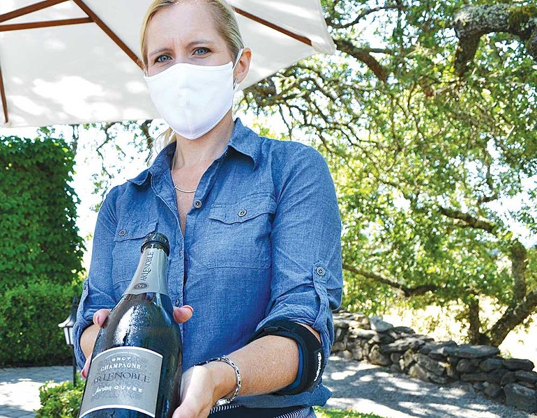 Jordan Vineyard & Winery's 'Paris on the Terrace' summer luncheon series transforms their picturesque corner of the Alexander Valley into a virtual French vacation. - JAMES KNIGHT