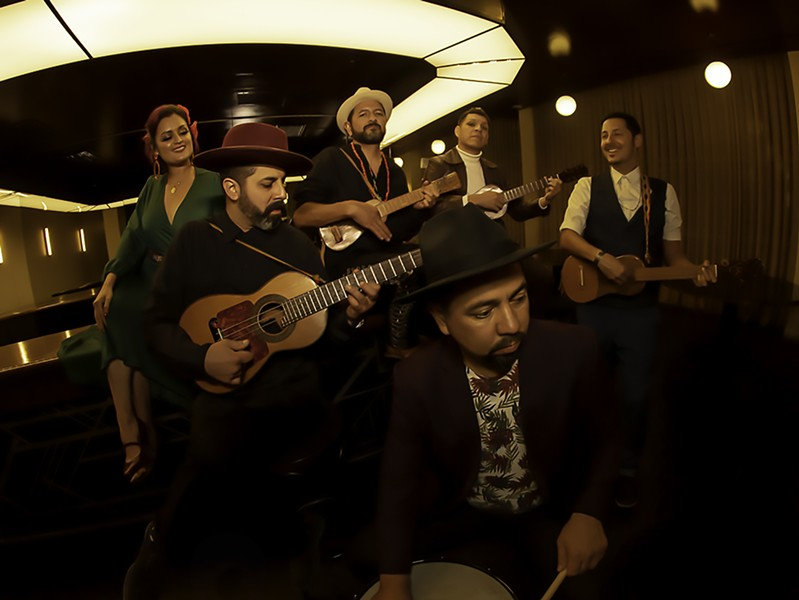 Green Music Center favorites Las Cafeteras share genre-bending music and lyrically-rich storytelling on Oct. 15 as part of the center's online season of shows. - PHOTO COURTESY GREEN MUSIC CENTER