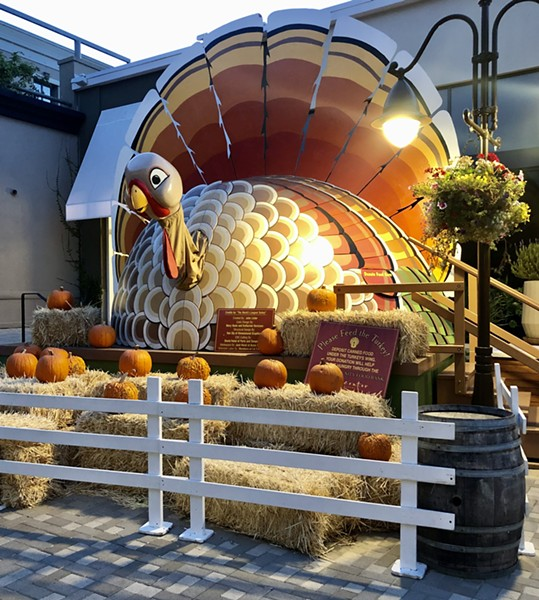 Look for the giant turkey at Town Center Corte Madera to donate food to the SF-Marin Food Bank. - PHOTO COURTESY TOWN CENTER CORTE MADERA