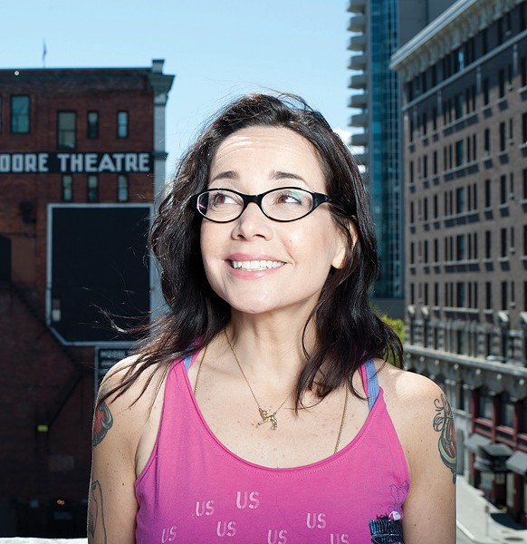 PEARLY WHITES Her comedy is as biting as ever, but standup star Janeane Garofalo will be all smiles when she performs at City Winery Napa on Nov. 21.