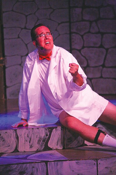 PANTLESS Mark Bradbury, seen here in 6th Street's 'Rocky Horror,' plays another character who loses his pants. - ERIC CHAZANKIN