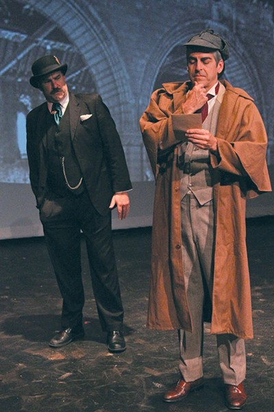ELEMENTARY LAUGHS Spreckels' production of  'Baskerville' fuses 'Sherlock Holmes' and 'Monty Python.' - ERIC CHAZANKIN
