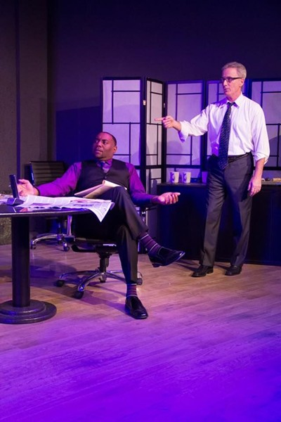 Henry (Dorian Locket, left) and Jack (Mike Pavone) are great in David Mamet's 'Race' - A.J. REILLY