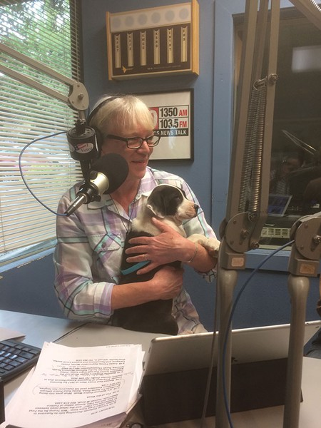THE VETERAN  Pat Kerrigan fled fire around her Kenwood home and headed straight to the studio to report on the growing disaster.