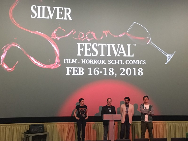 Famous Monsters of Filmland and Santa Rosa Entertainment group present awards at the Silver Scream Fest.