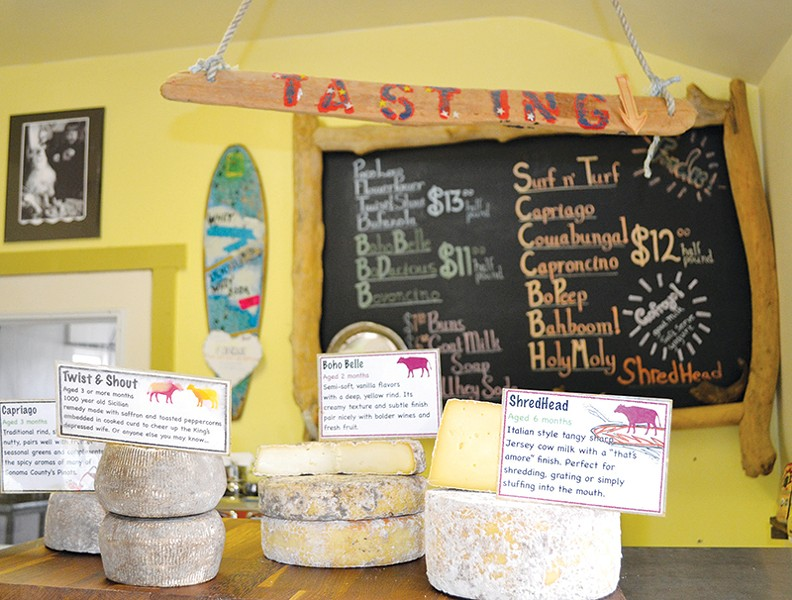 CHEESE SHOP Bohemian Creamery's place of purveyance is pleased to negotiate the vending of some cheesy comestibles. - JAMES KNIGHT