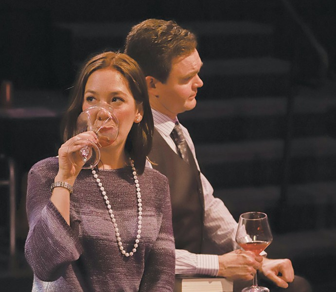 Reading & Drinking A book club is the unlikely subject for a new-ish ensemble play at 6th Street Playhouse. - ERIC CHAZANKIN