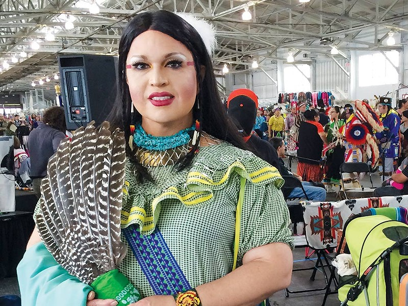 Two-Spirited Miko Thomas, aka Landa Lakes, attends the Bay Area American Indian 'Two-Spirit Powwow.' - RICK BACIGALUPI