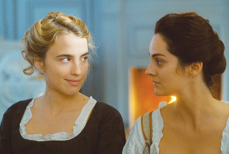 Adèle Haenel and Noémie Merlant share more than glances in 'Portrait of a Lady on Fire.'