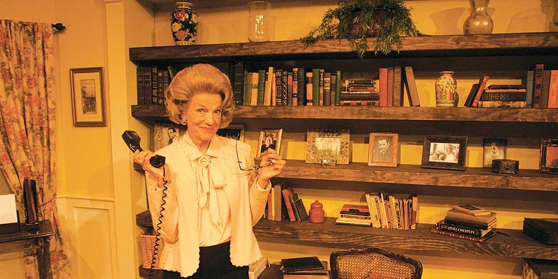 Laura Jorgensen is Ann Landers in Cinnabar Theater's latest.