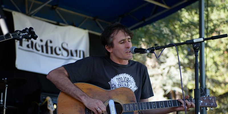 Scenes from the Aug. 14 NorBay concert at Julliard Park Josh Windmiller unplugs for an appreciative crowd. Jon Lohne