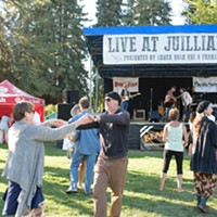 Scenes from the Aug. 14 NorBay concert at Julliard Park Dancing in the grass beats dancing in the street. Jon Lohne