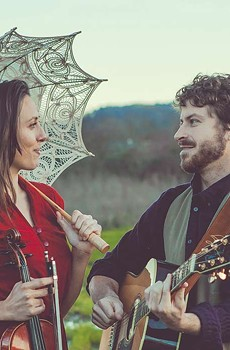 Marin County troubadours Laura Benson and Dave Pascoe co-front local outfit Late For the Train.