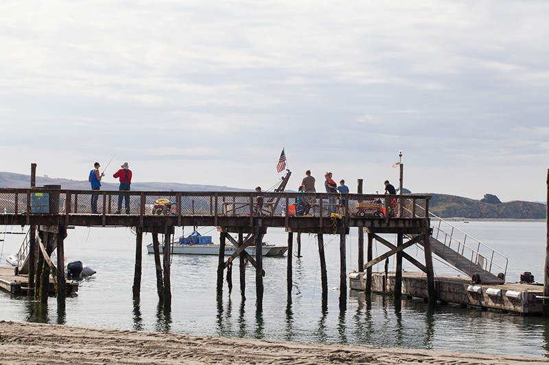 PIER PRESSURE Marin County and the state put the squeeze on good times along Tomales Bay. - MICHAEL AMSLER