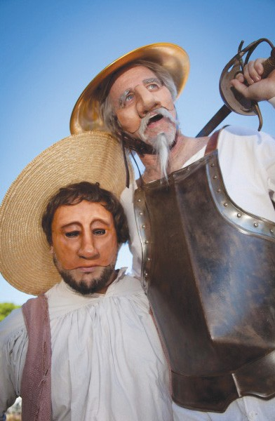 QUIXOTIC Masks and puppets add to the fun of 'Don Quixote.'